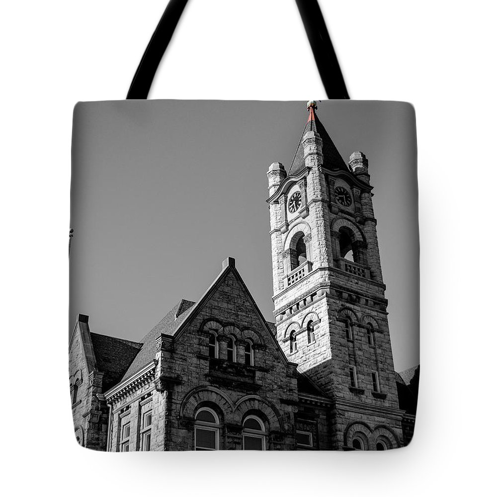 Courthouse Tote Bag featuring the photograph American Courthouse by James Meyer