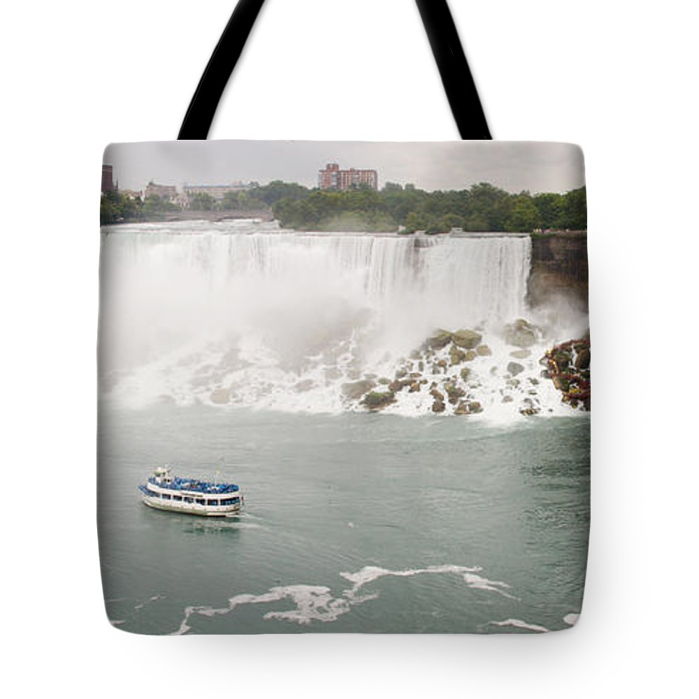 3scape Tote Bag featuring the photograph American Falls by Adam Romanowicz