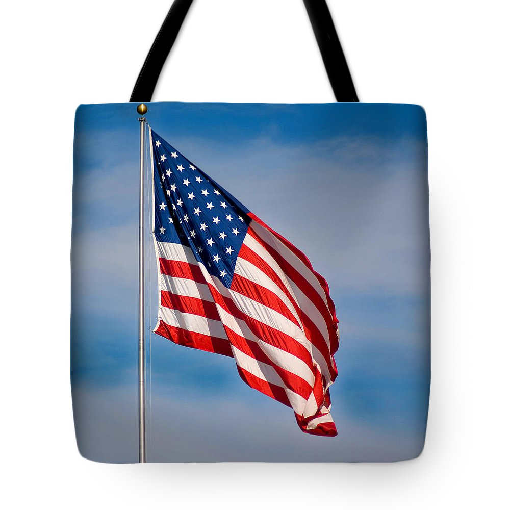 America Tote Bag featuring the photograph American Flag by Benjamin Reed