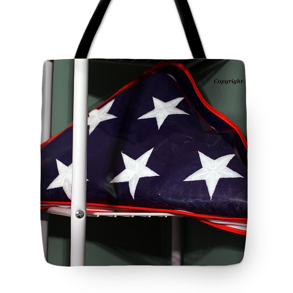American Tote Bag featuring the photograph American Flag by Karl Rose