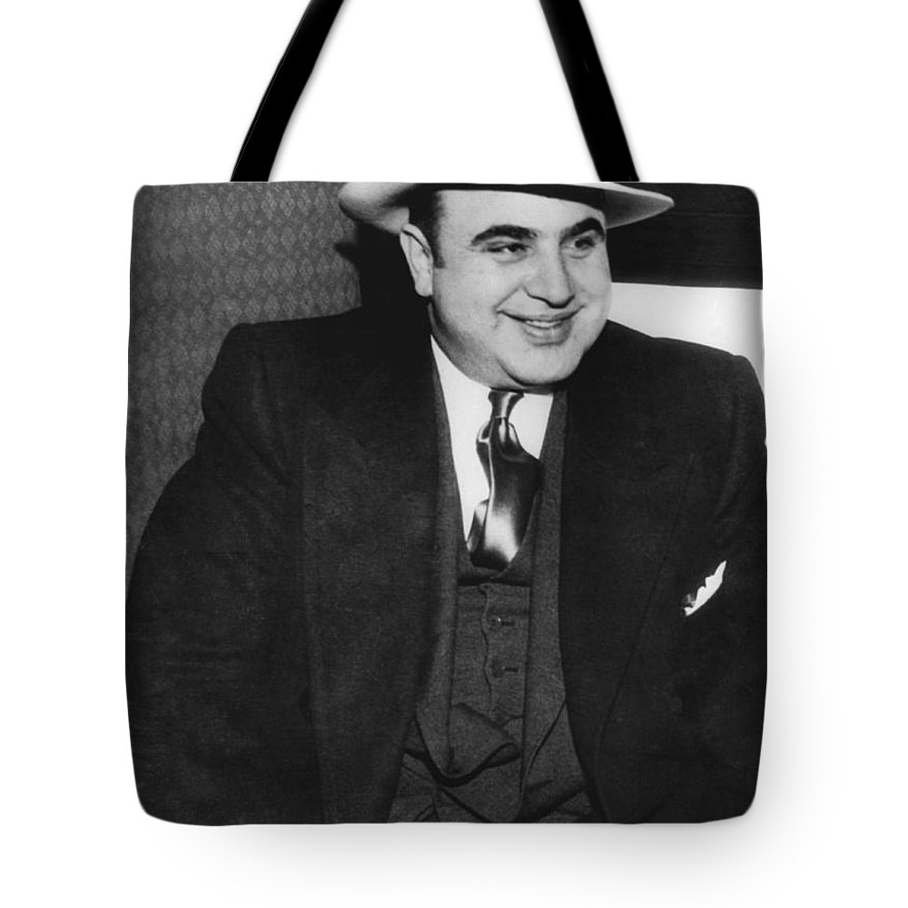 1035-790 Tote Bag featuring the photograph American Gangster Al Capone by Underwood Archives