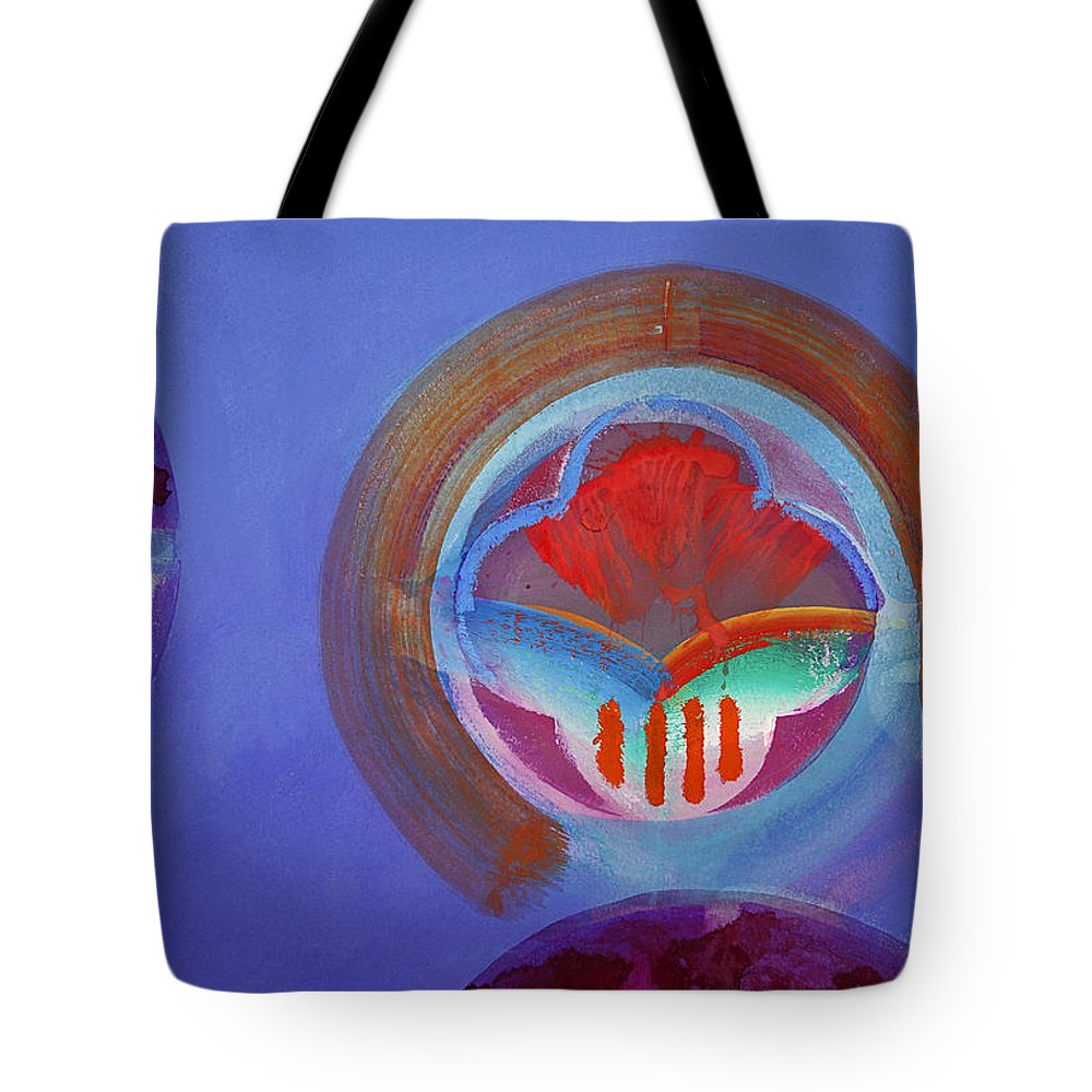 Texas Art Tote Bag featuring the painting American Gothic Button by Charles Stuart