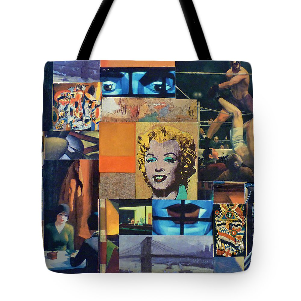 Collage Tote Bag featuring the mixed media American Masters by Mary Gair