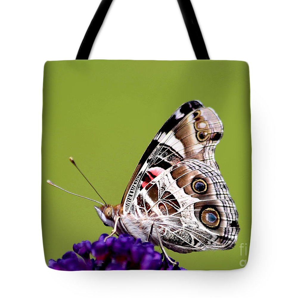 American Painted Lady Tote Bag featuring the photograph American Painted Lady by Marty Fancy
