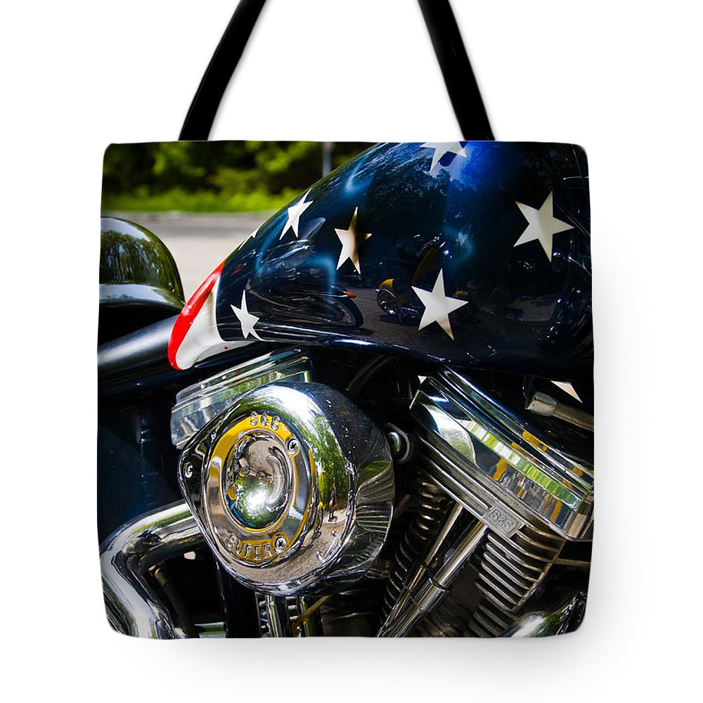 3scape Photos Tote Bag featuring the photograph American Ride by Adam Romanowicz