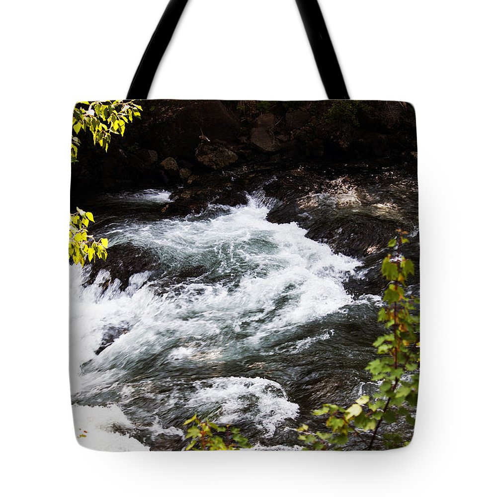 Washington Tote Bag featuring the photograph American River's Levels by Edward Hawkins II
