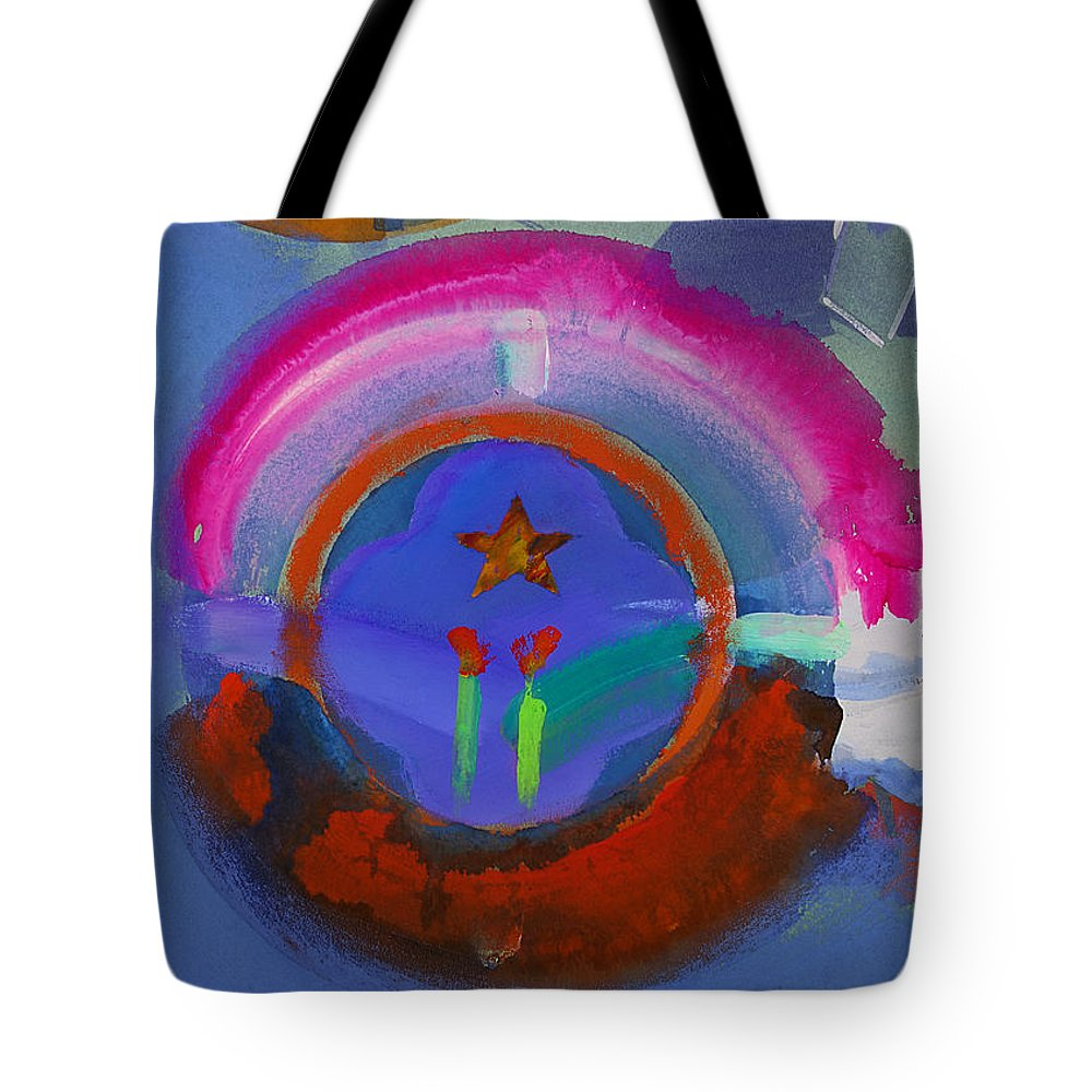 Texas Art Tote Bag featuring the painting American Skyline by Charles Stuart