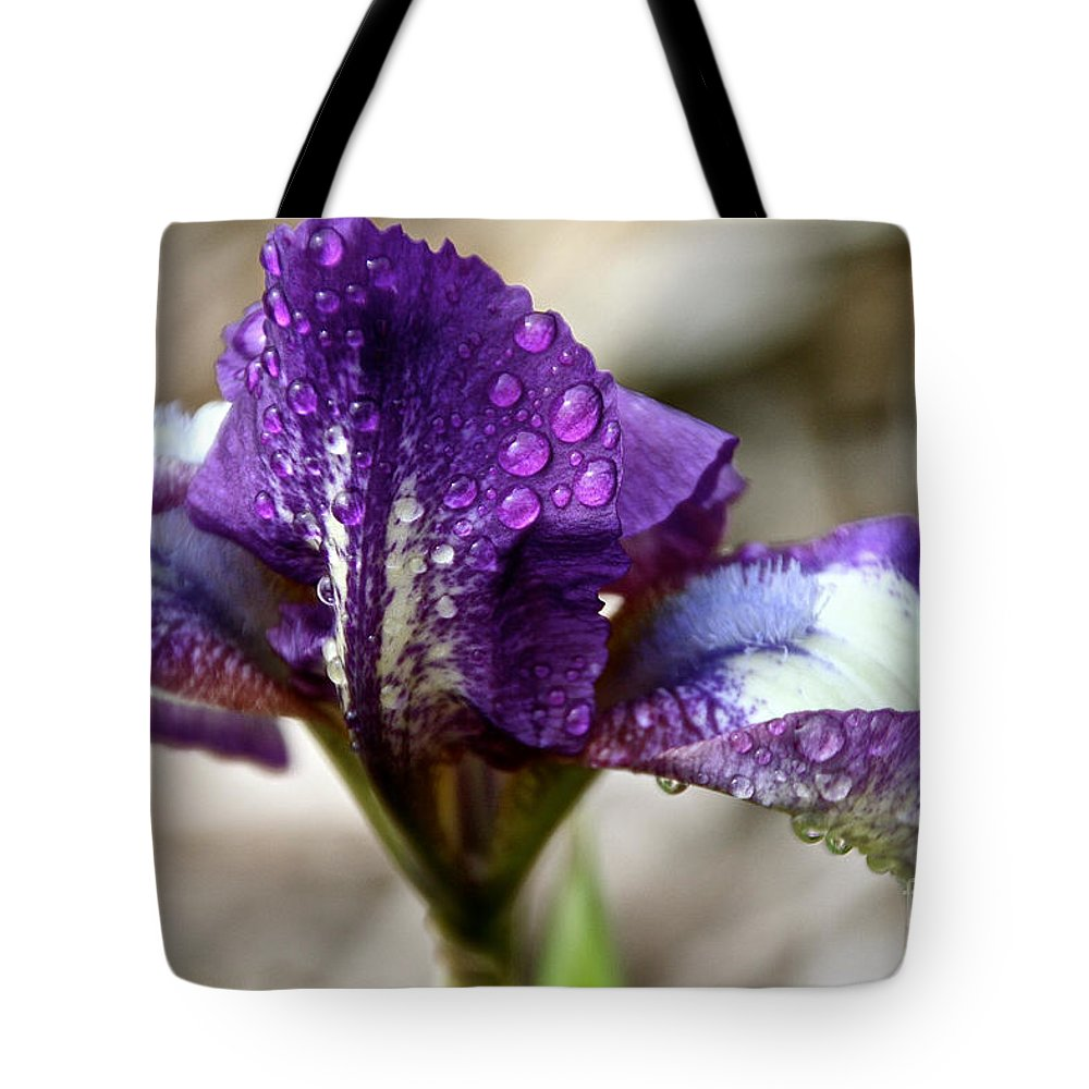 Flower Tote Bag featuring the photograph Amethyst Beardie by Susan Herber