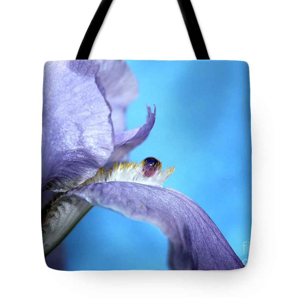 Iris Tote Bag featuring the photograph Amethyst Iris by Krissy Katsimbras