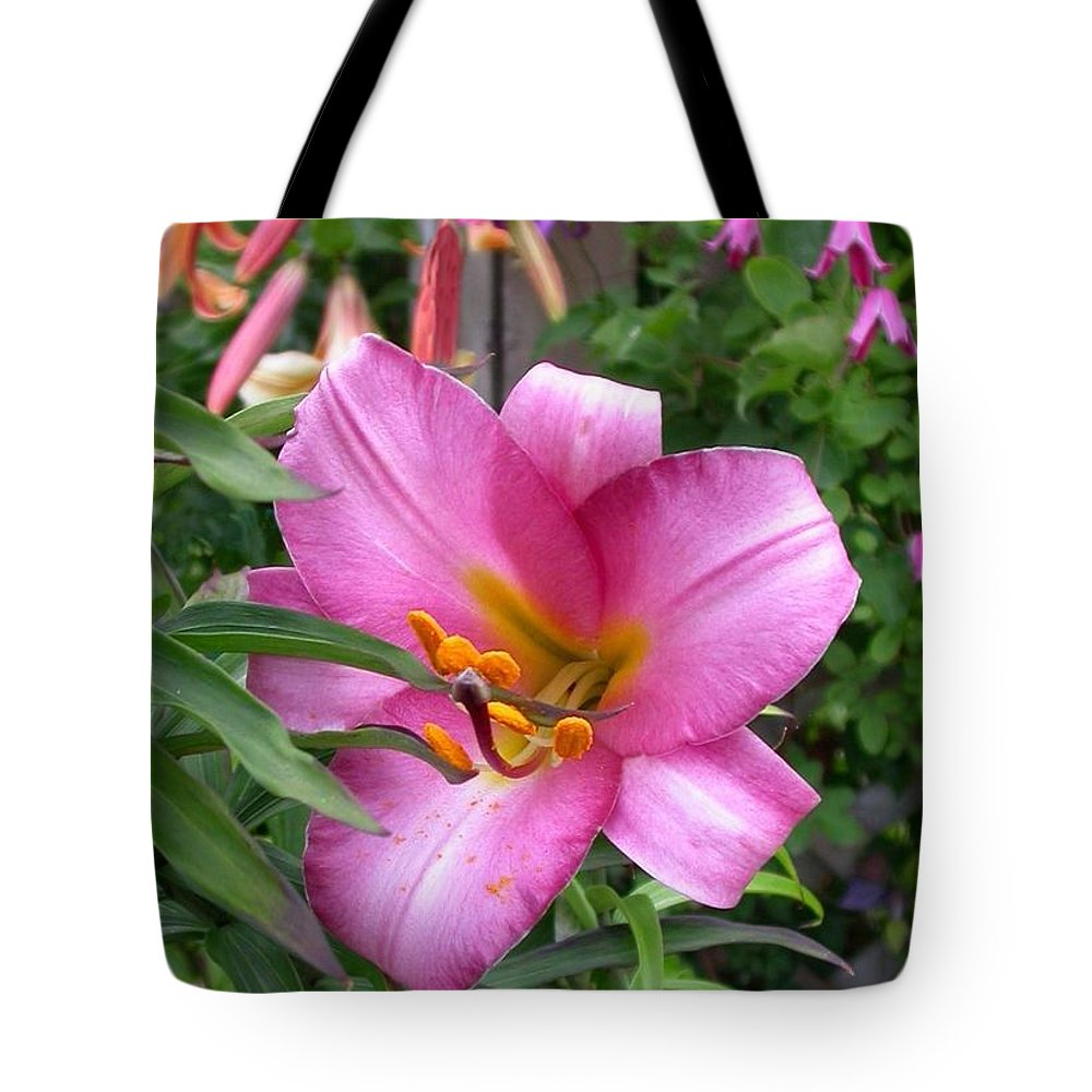 L. Amethyst Temple Tote Bag featuring the photograph Amethyst Temple by Cynthia Wallentine