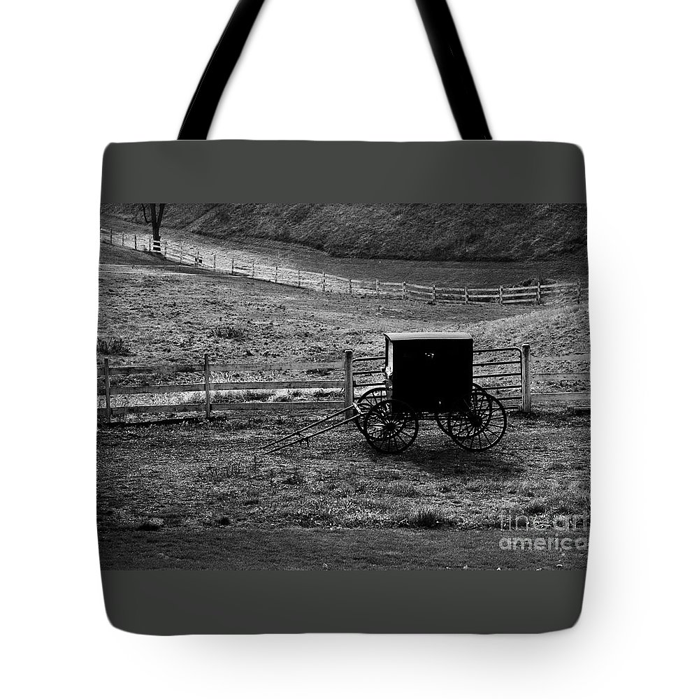 Amish Tote Bag featuring the photograph Amish Buggy by Kathleen Struckle