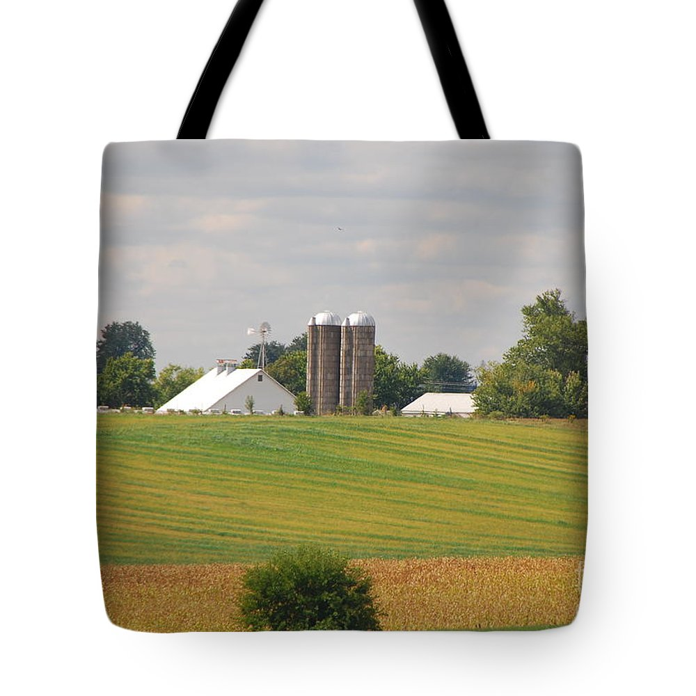 Farm Tote Bag featuring the photograph Amish Farm 2 by Mary Carol Story