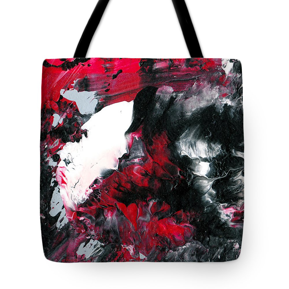 Abstract Tote Bag featuring the painting Amorphous Pleasure by Maura Satchell