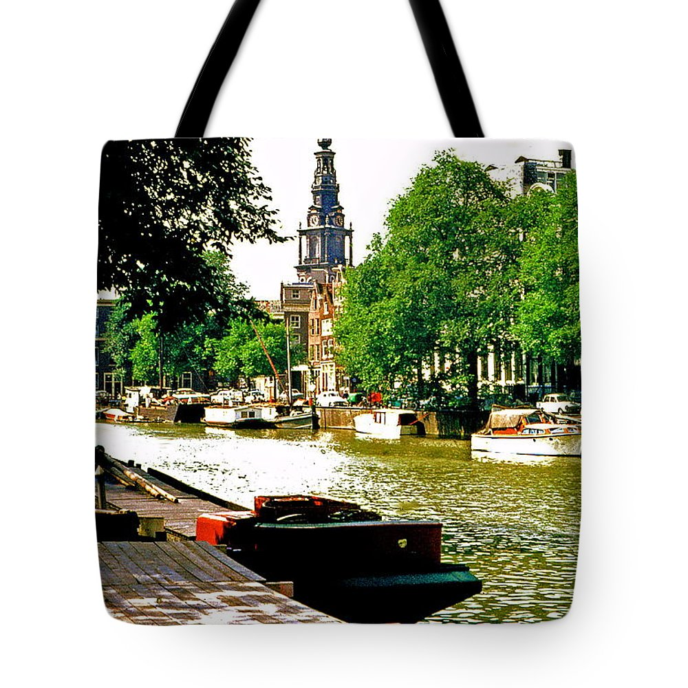 Amsterdam Tote Bag featuring the photograph Amsterdam by Ira Shander