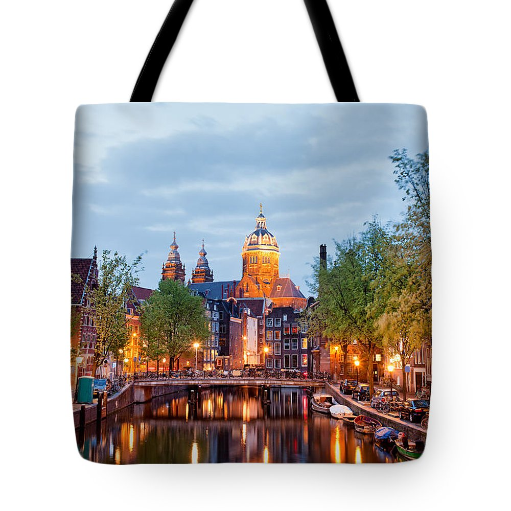 Amsterdam Tote Bag featuring the photograph Amsterdam by Artur Bogacki