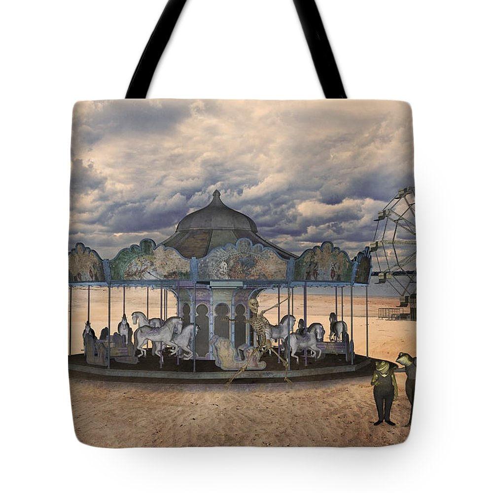 Carousel Mixed Media Tote Bags
