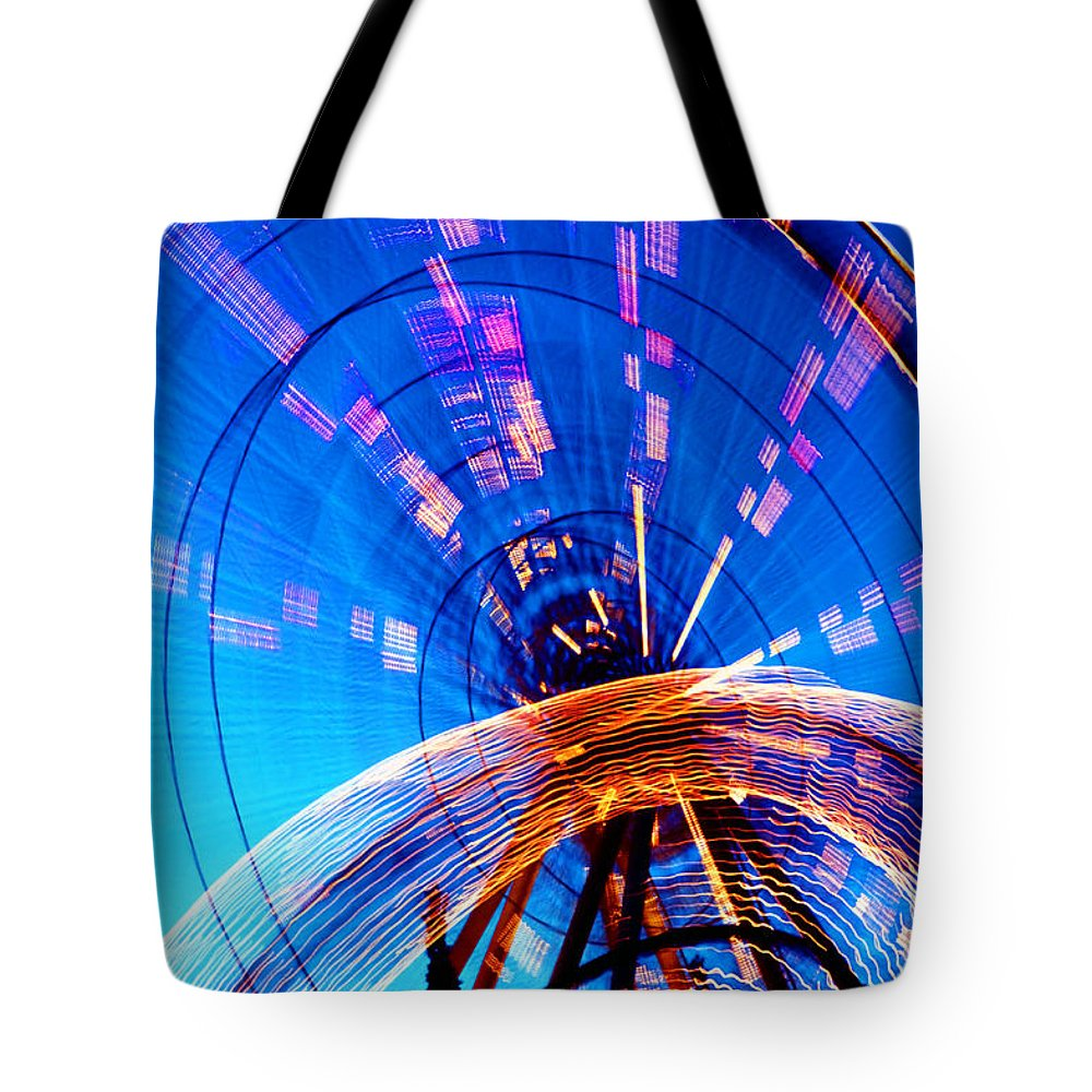 Amusement Park Tote Bag featuring the photograph Amusement Park Rides 1 by Steve Ohlsen