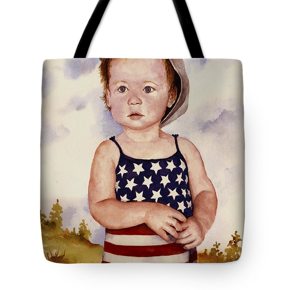 Kid Tote Bag featuring the painting An All American Girl Named Ireland by Sam Sidders