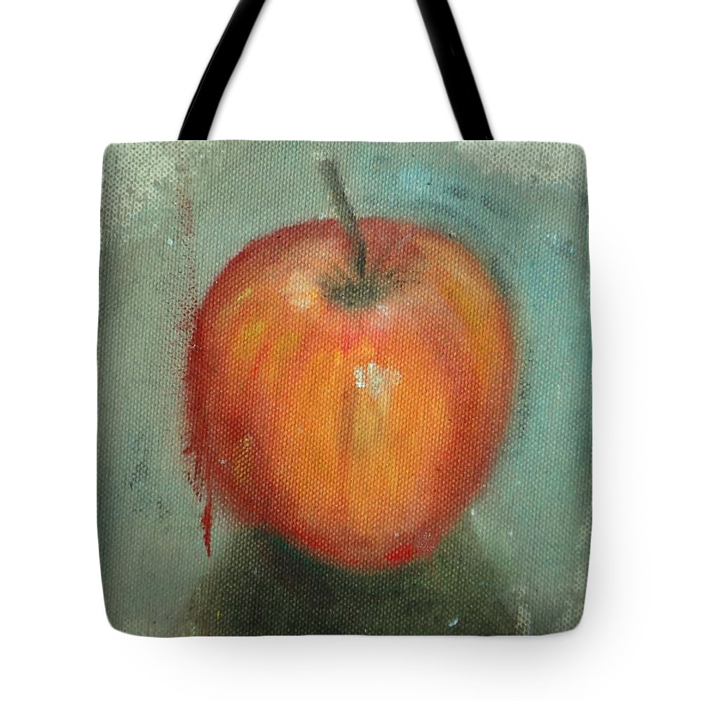 Apple Tote Bag featuring the painting An Apple by Usha Shantharam