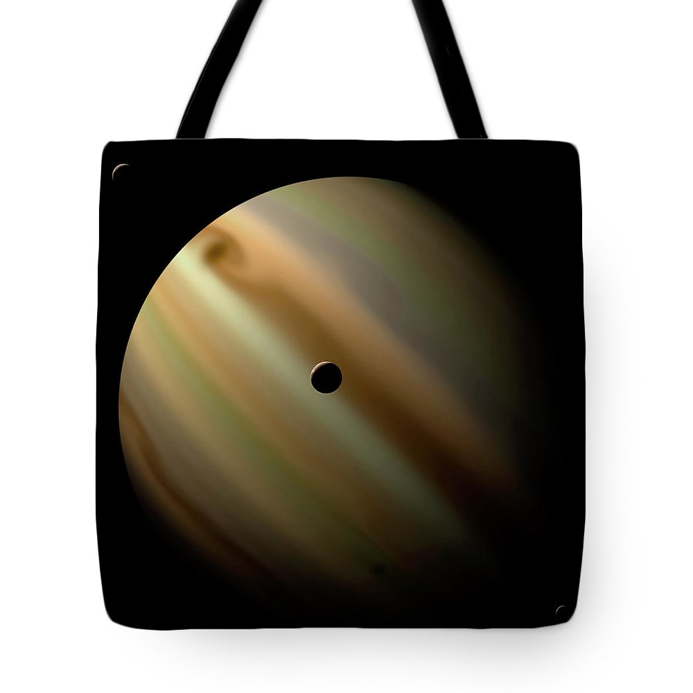 Concepts & Topics Tote Bag featuring the digital art An Artists Depiction Of A Gas Giant by Marc Ward/stocktrek Images