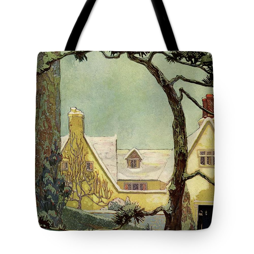 House And Garden Tote Bag featuring the photograph An English Country House by Porter Woodruff