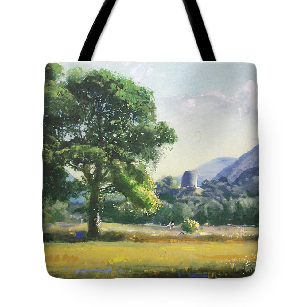 Landscape Tote Bag featuring the painting An Englishman's Castle by Derek Williams