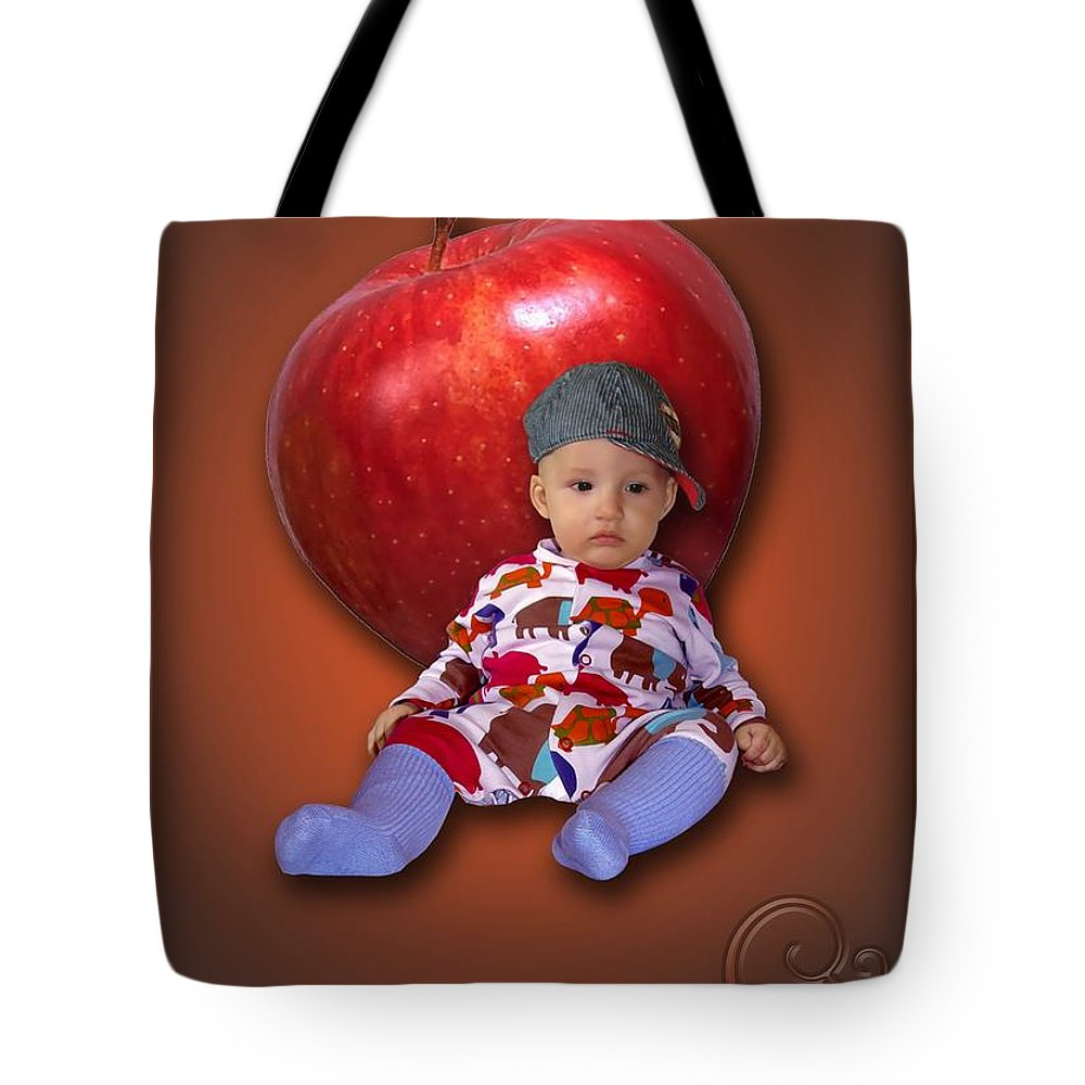 Child Tote Bag featuring the digital art An Image Of A Photograph Of Your Child. - 04 by Marek Lutek