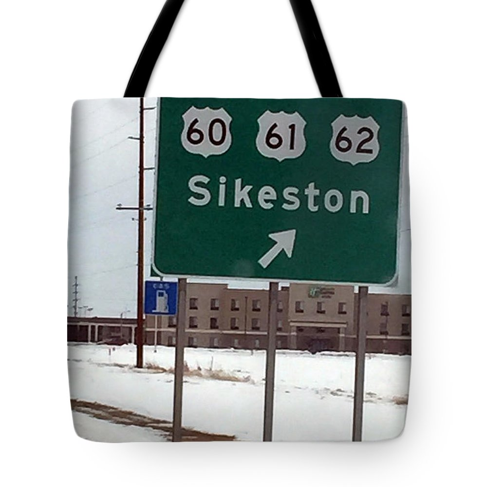 Signage Tote Bag featuring the photograph An Orderly Junction by James Pinkerton