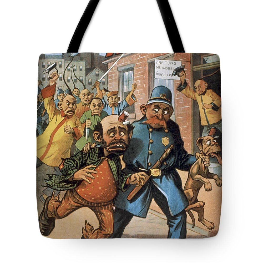 Entertainment Tote Bag featuring the drawing An Uprising In China by Aged Pixel