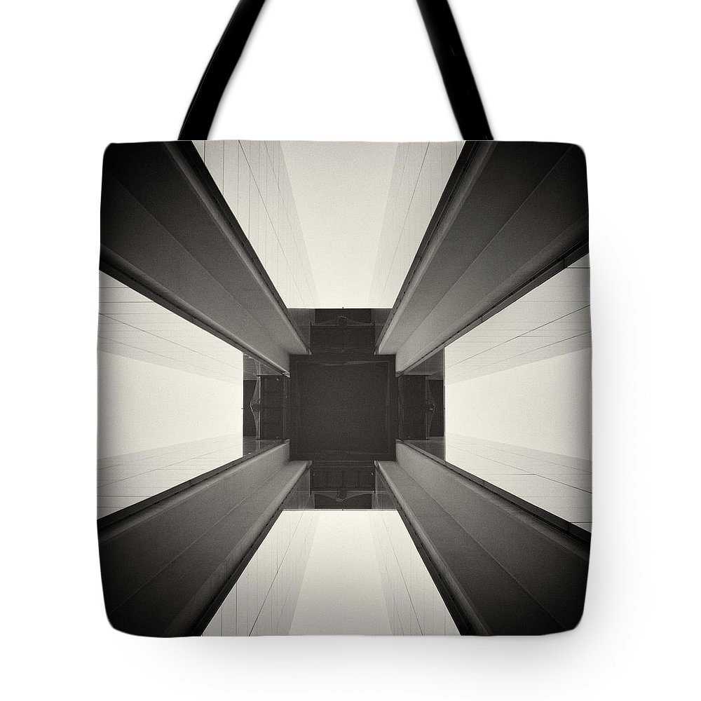Analog Photography Tote Bag featuring the photograph Analog Photography - Berlin Abstract Architecture by Alexander Voss