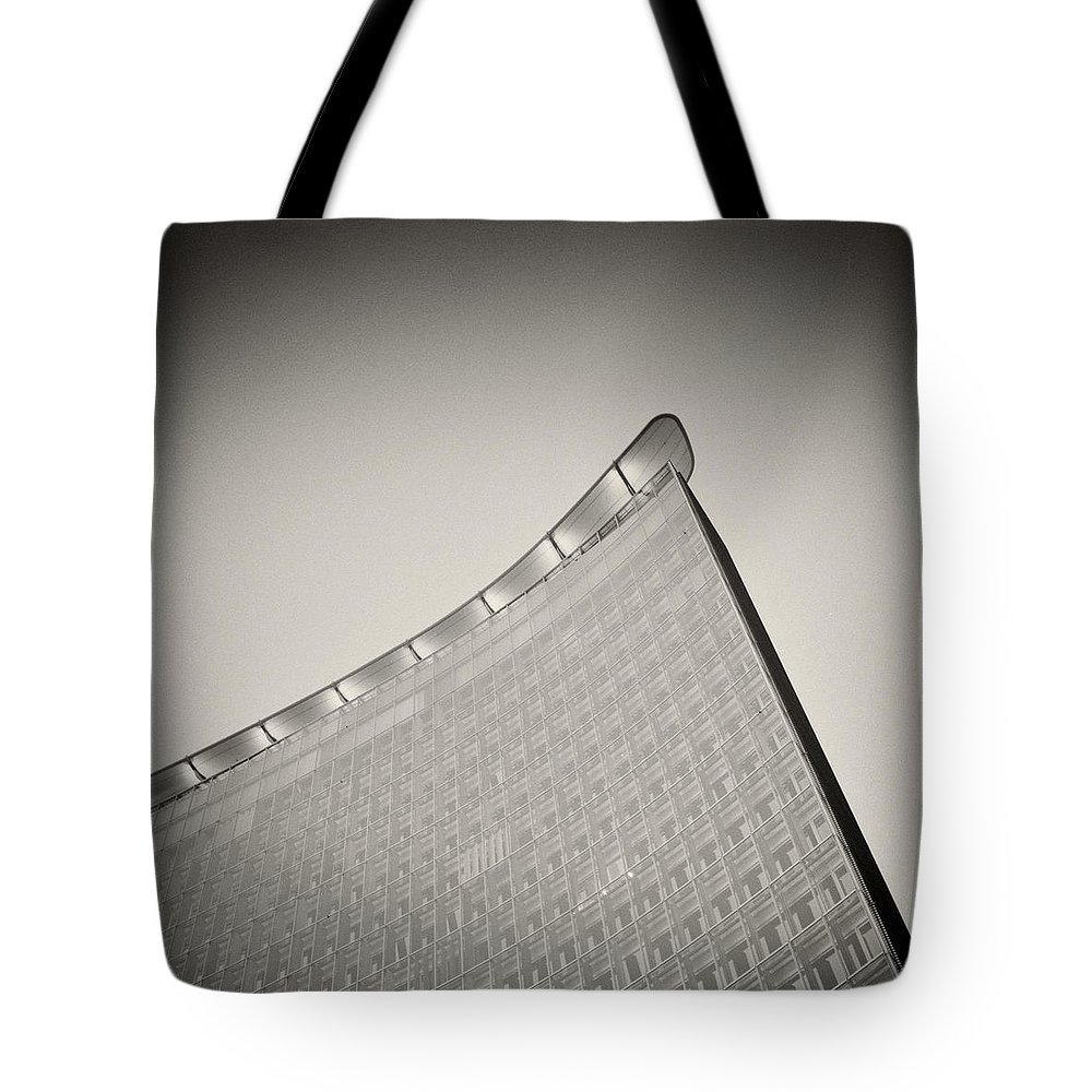 Analog Photography Tote Bag featuring the photograph Analog Photography - Berlin Architecture by Alexander Voss