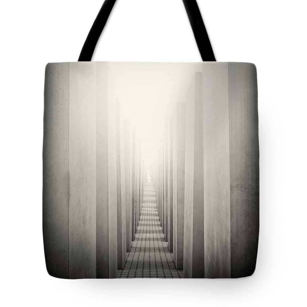Analog Photography Tote Bag featuring the photograph Analog Photography - Berlin Holocaust Memorial by Alexander Voss