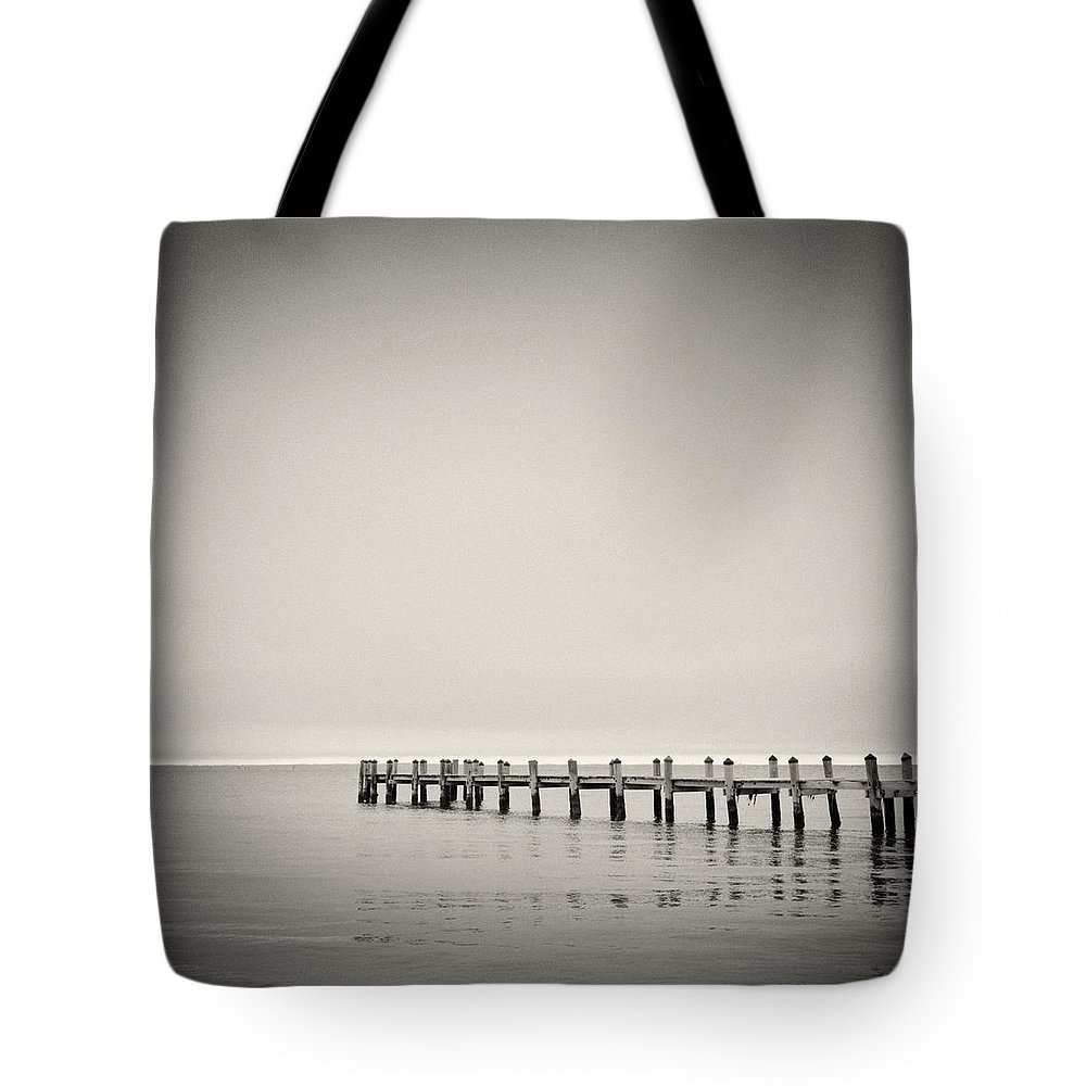 Analog Photography Tote Bag featuring the photograph Analog Photography - Martha's Vineyard Horizon by Alexander Voss
