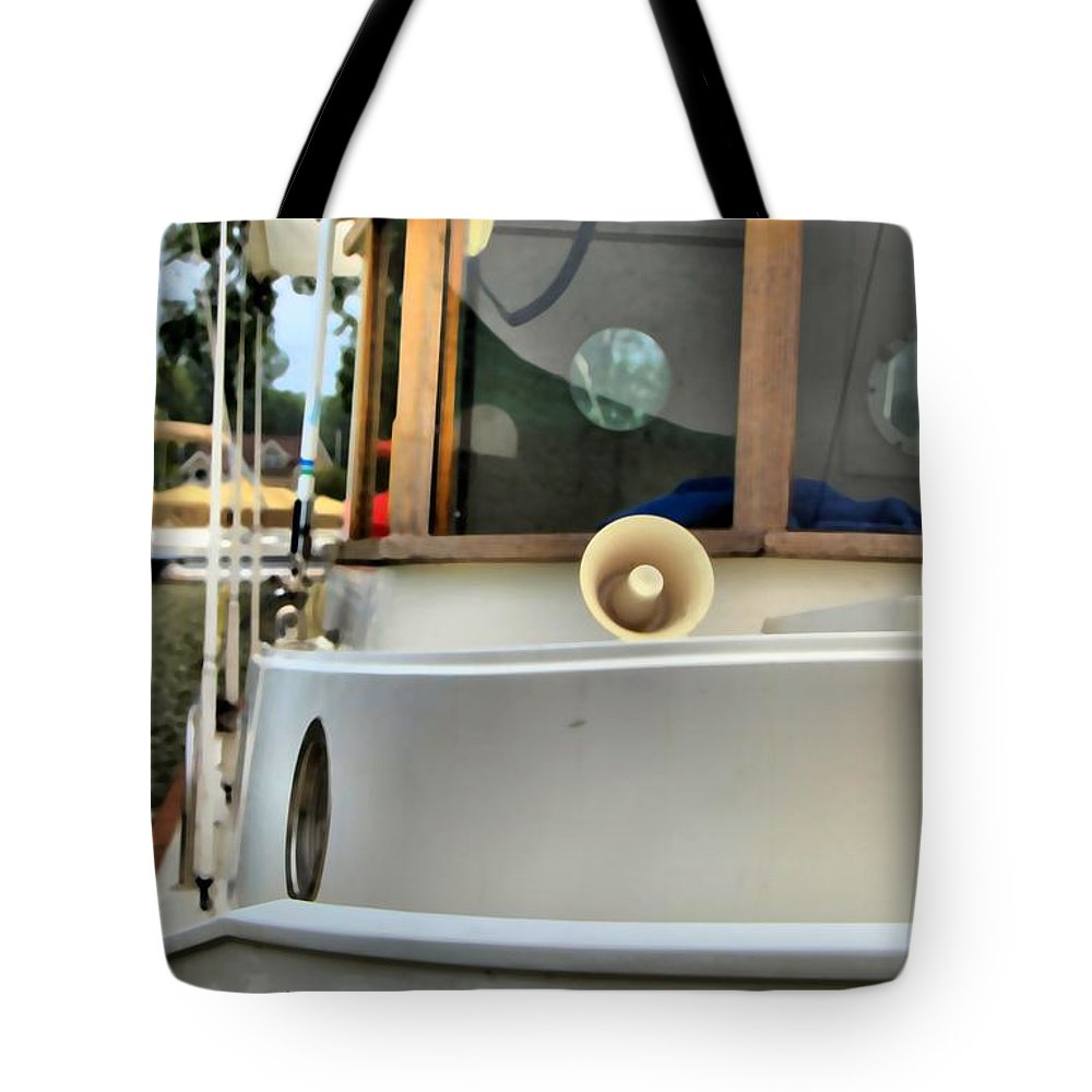 Anastasia Boating On Lake Erie Tote Bag featuring the photograph Anastasia Boating On Lake Erie by Dan Sproul