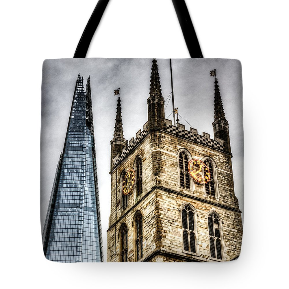 Southwark Tote Bag featuring the photograph Ancient And Modern by David Pyatt