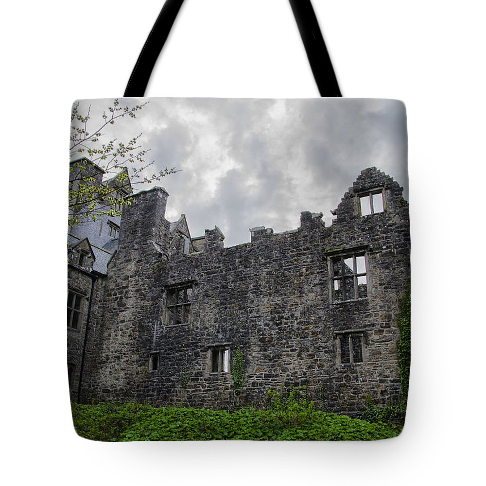 Ancient Tote Bag featuring the photograph Ancient Donegal Castle by Bill Cannon