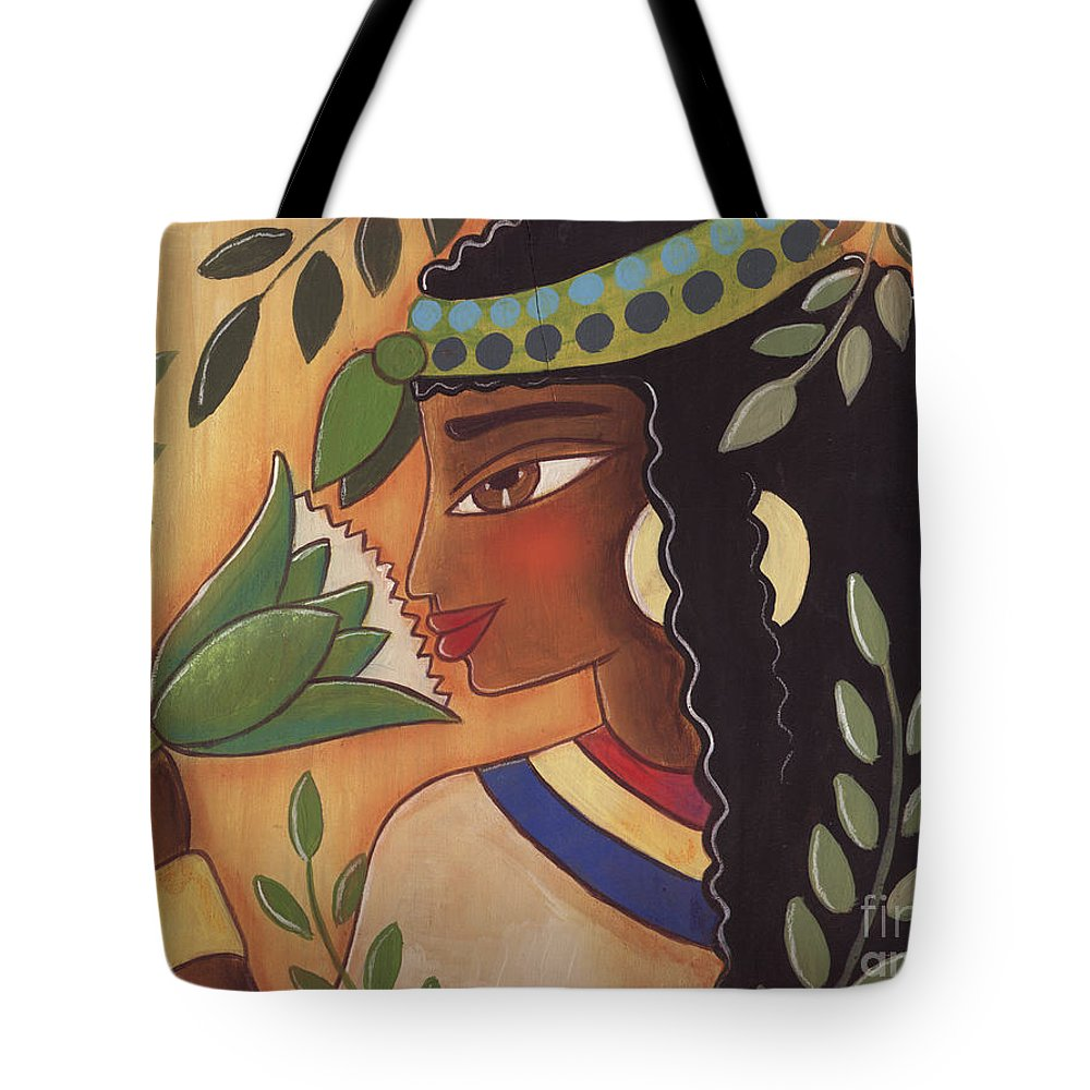 Ancient Egyptian Tote Bag featuring the painting Ancient Egyptian Belle by Elaine Jackson