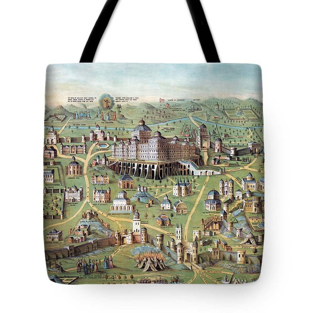 1851 Tote Bag featuring the photograph Ancient Jerusalem by Granger