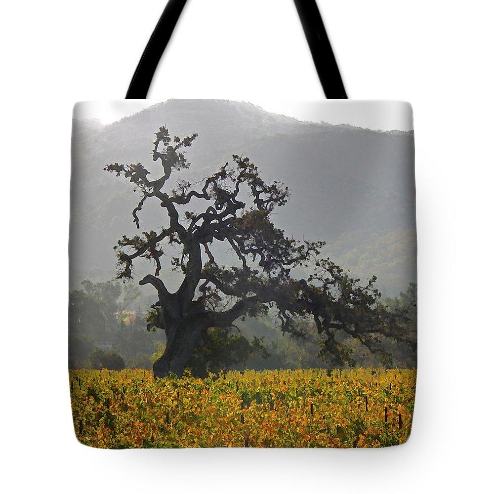 Flora Tote Bag featuring the photograph Ancient Oak by Ann Nunziata