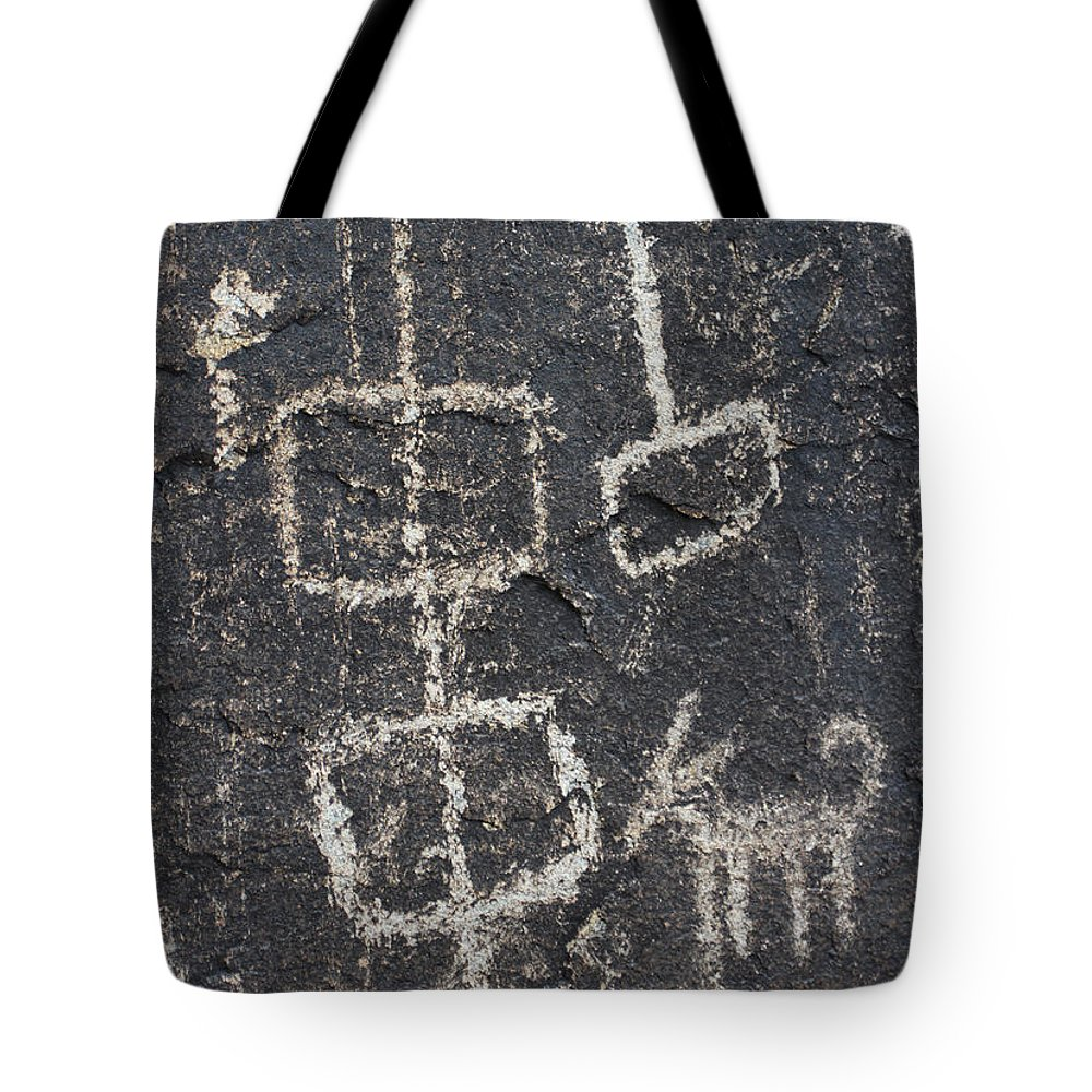 Ancient Rock Memo Tote Bag featuring the photograph Ancient Rock Memo by Tom Janca