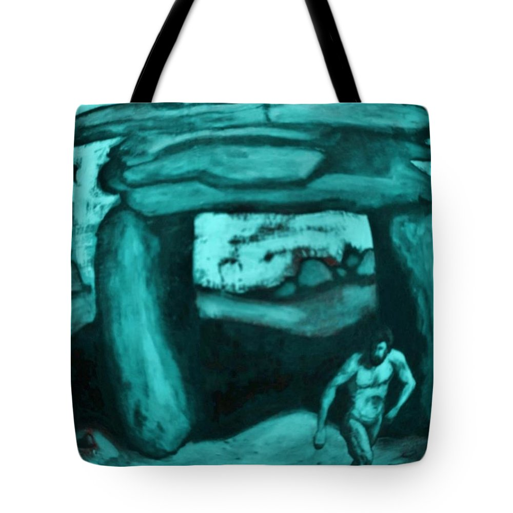 Ancient Art Paintings Tote Bag featuring the digital art Ancient Seen Through The Time Machine by John Malone