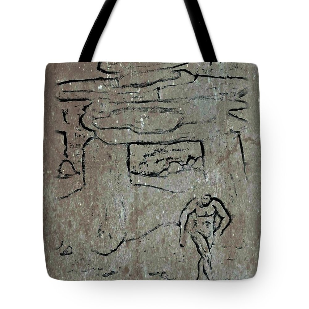 Ancient Tote Bag featuring the digital art Ancient Wall Art by John Malone