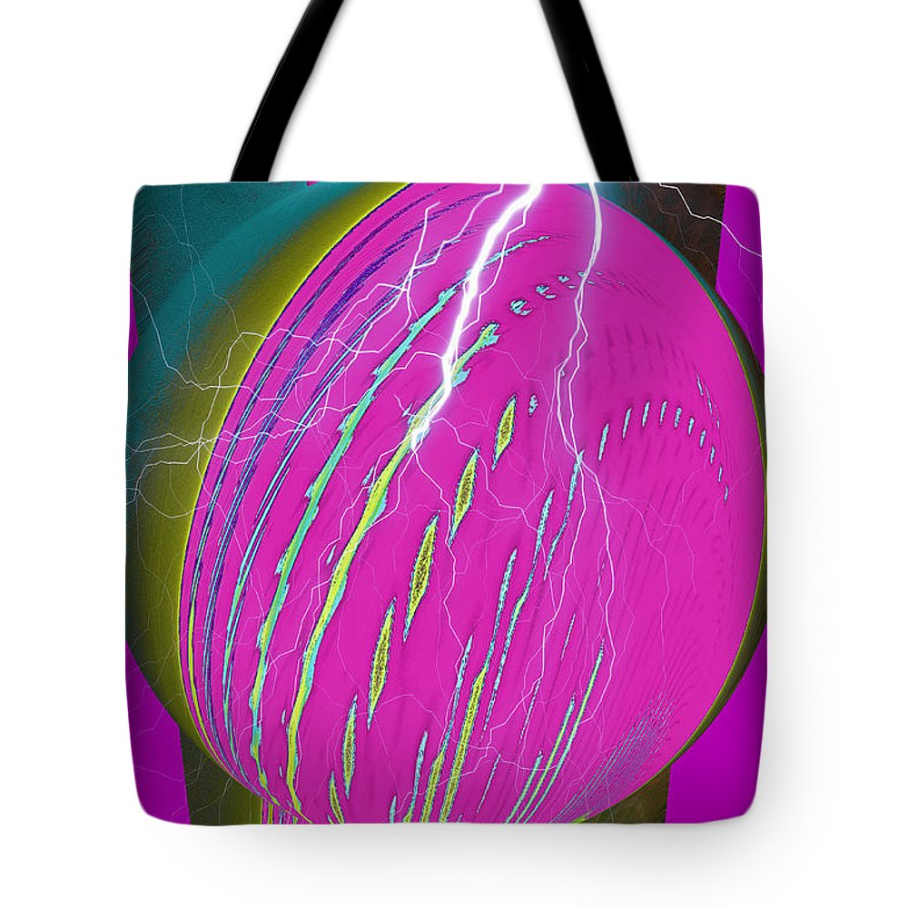 Earth Tote Bag featuring the digital art And He Called It Earth by Luther Fine Art