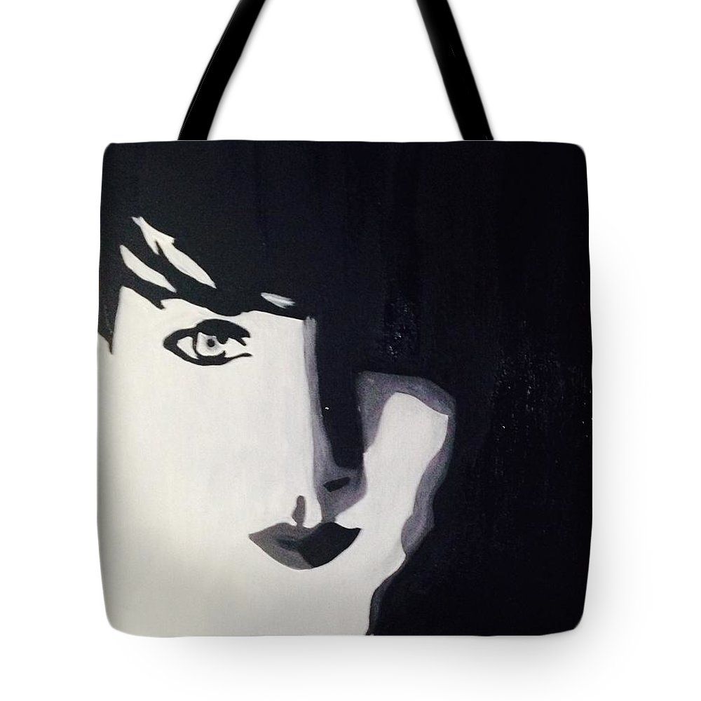 Portrait Tote Bag featuring the painting And The Darkness Will Consume Me As The Shadows Roll In by Blare Whiteford