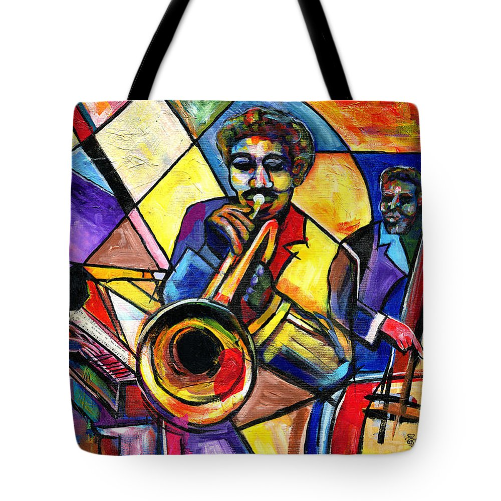 Everett Spruill Tote Bag featuring the painting And Then There Was Da Blues by Everett Spruill