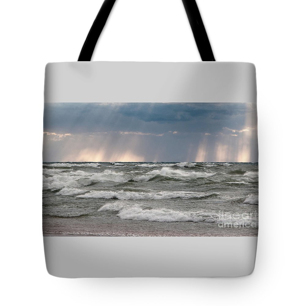 Seascape Tote Bag featuring the photograph And There Was Light by Ann Horn