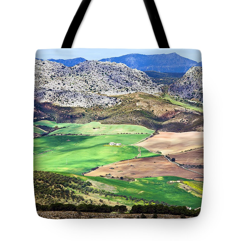 Agriculture Tote Bag featuring the photograph Andalucia Landscape In Spain by Artur Bogacki