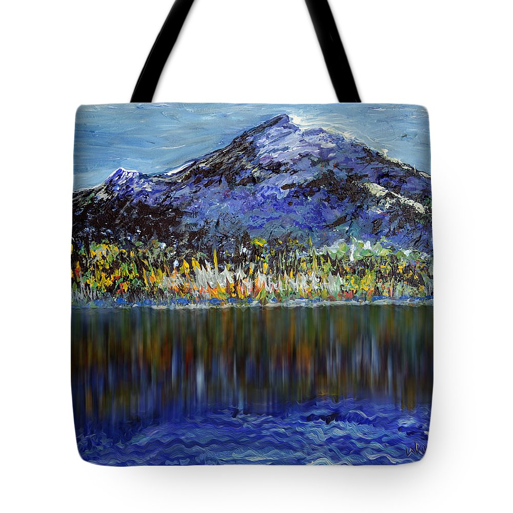 Mountains Tote Bag featuring the painting Andes Mountain by Doug LaRue