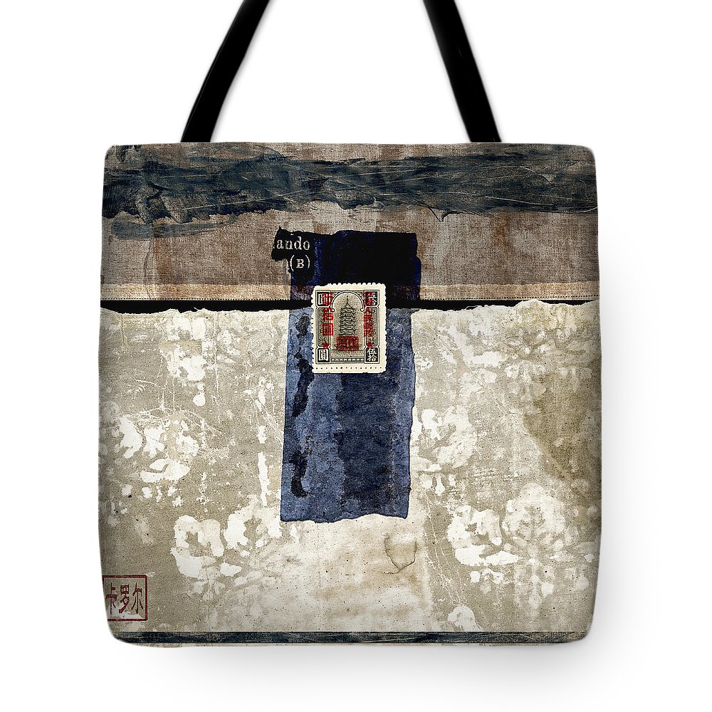Collage Tote Bag featuring the photograph Ando B by Carol Leigh