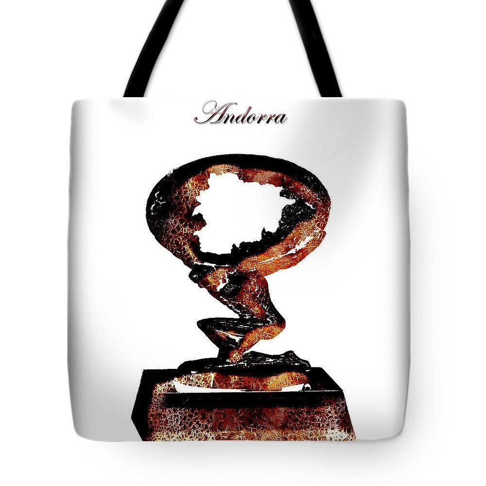 Andorra Tote Bag featuring the digital art Andorra Statue by Brian Reaves
